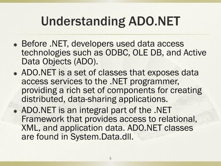 Understanding ADO.NET