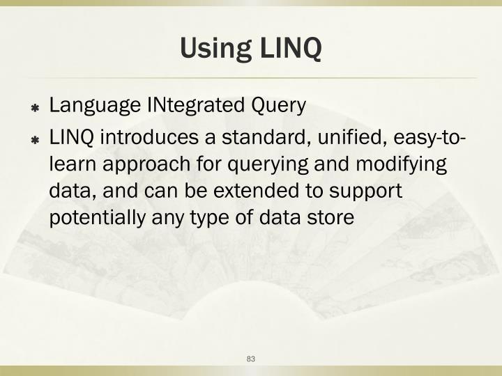 Using LINQ