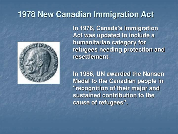 1978 New Canadian Immigration Act