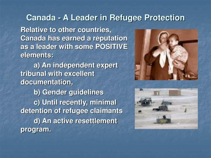 Canada - A Leader in Refugee Protection