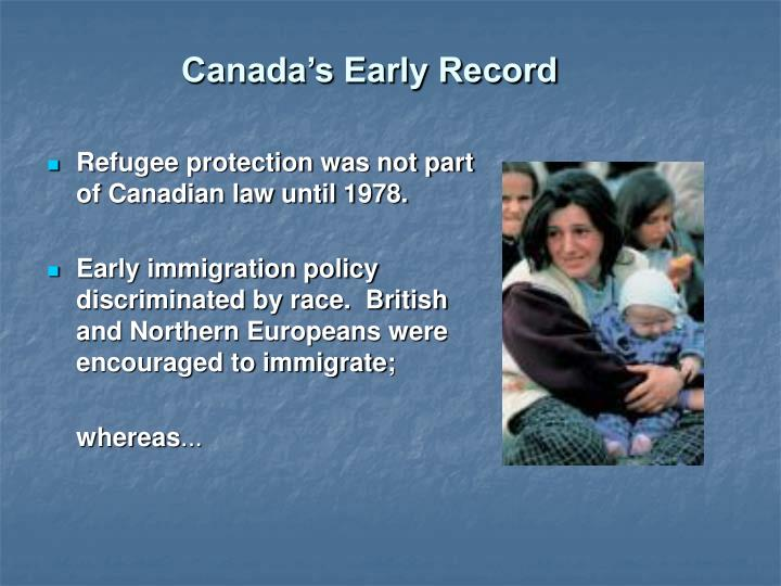 Canada s early record