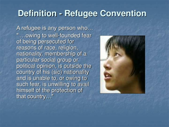Definition - Refugee Convention