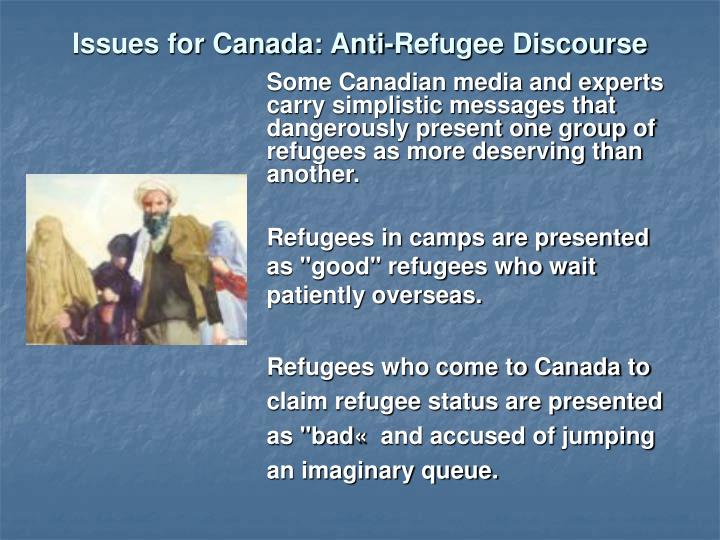 Issues for Canada: Anti-Refugee Discourse