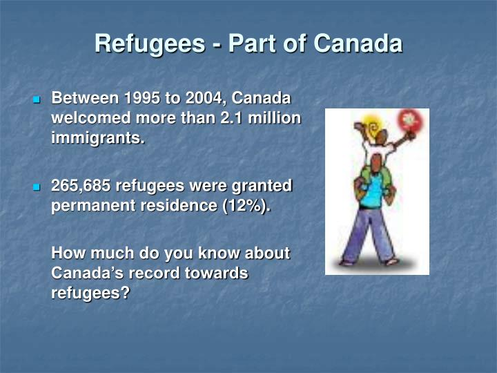 Refugees part of canada