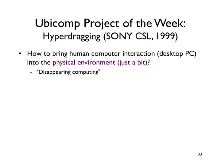 Ubicomp Project of the Week: