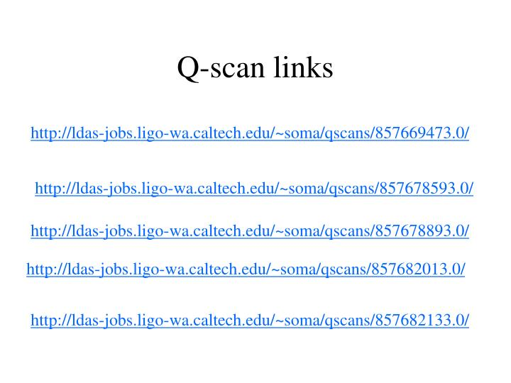 Q-scan links