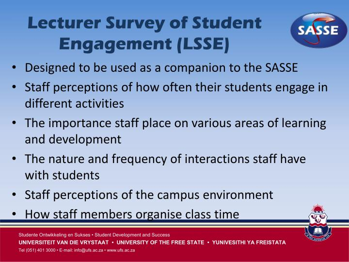 Lecturer Survey of Student Engagement (