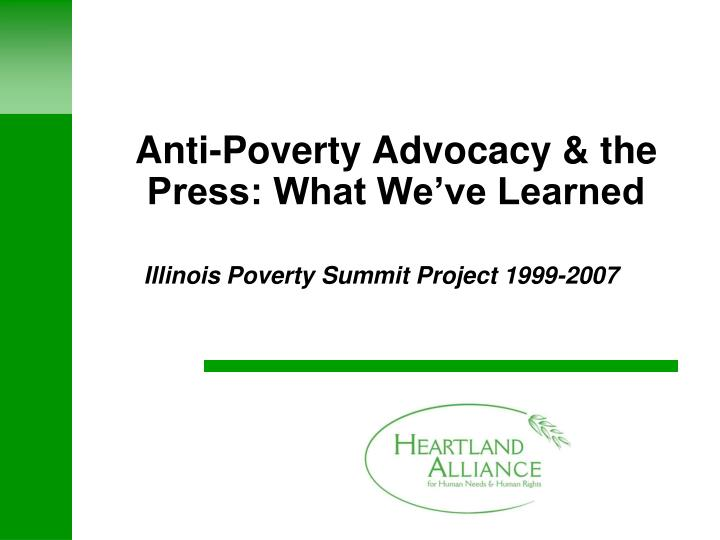 advocacy for poverty