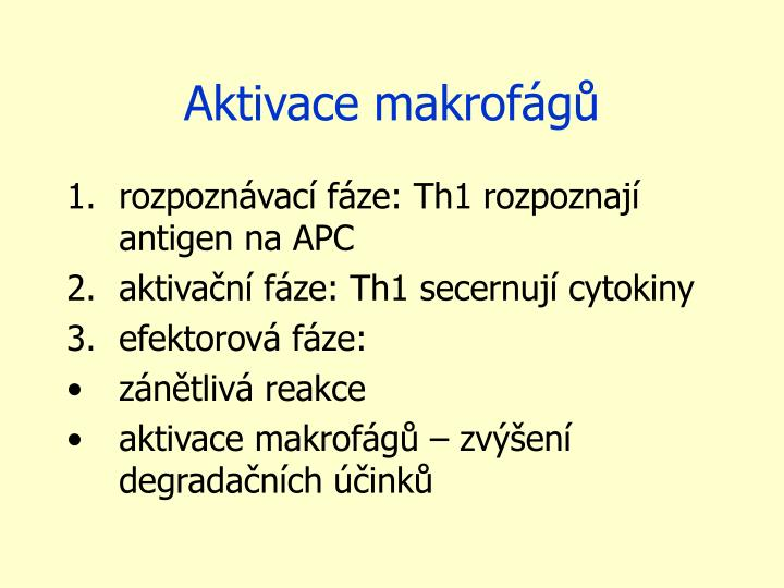 Aktivace makrofágů