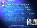 community colleges will