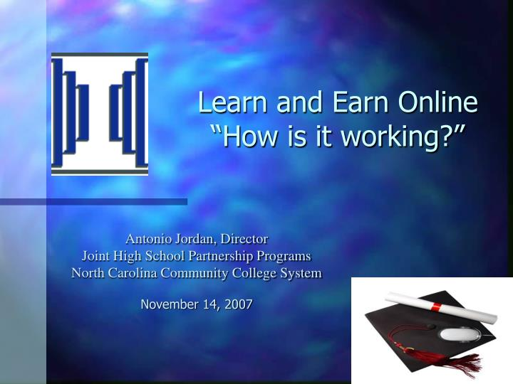 learn and earn online how is it working