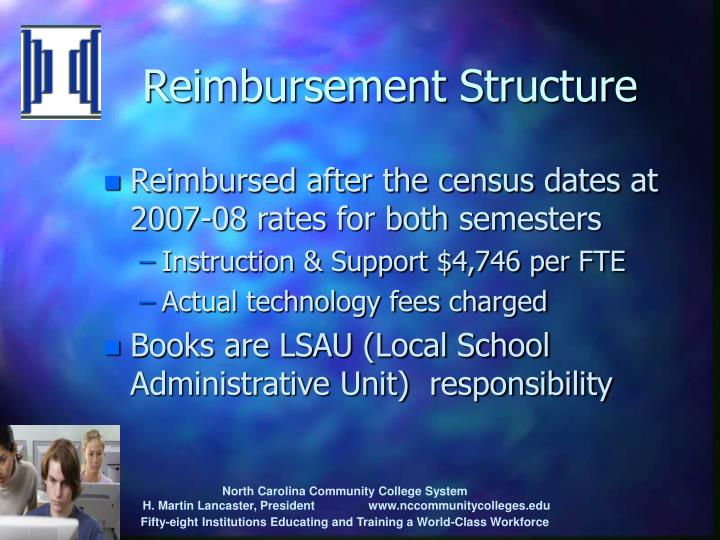 Reimbursement Structure