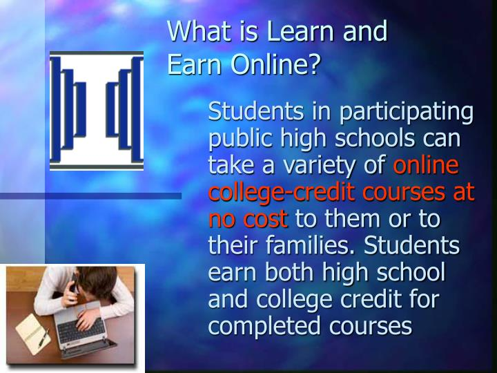 What is Learn and Earn Online?