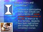 what is learn and earn online