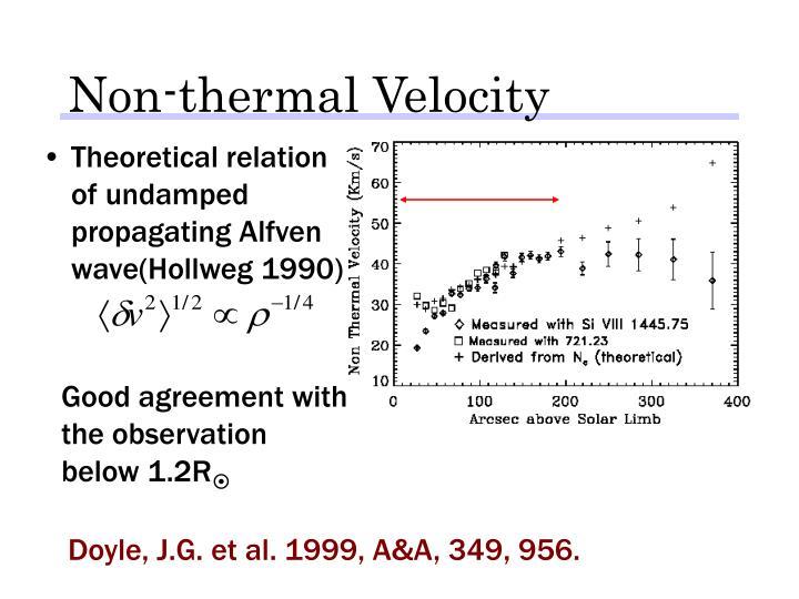 Non-thermal Velocity