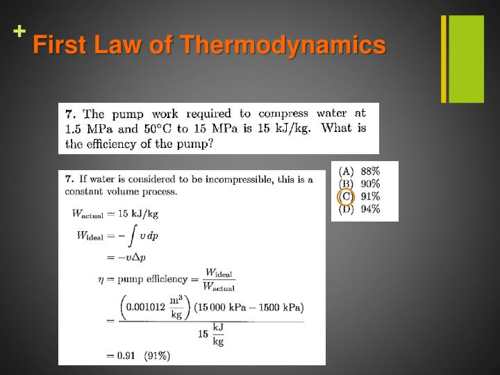 First Law of Thermodynamics