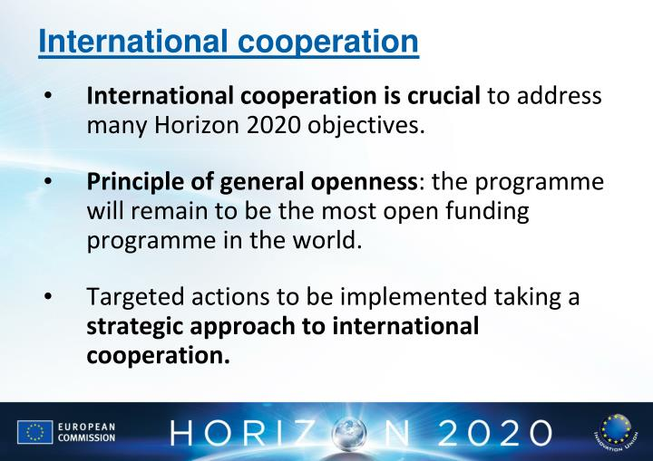 International cooperation is crucial
