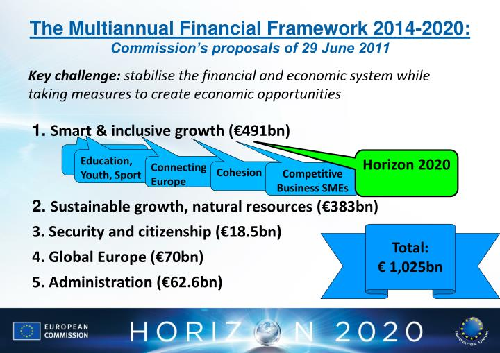 The Multiannual Financial Framework 2014-2020: