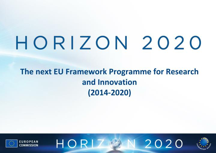 The next EU Framework Programme for Research and Innovation