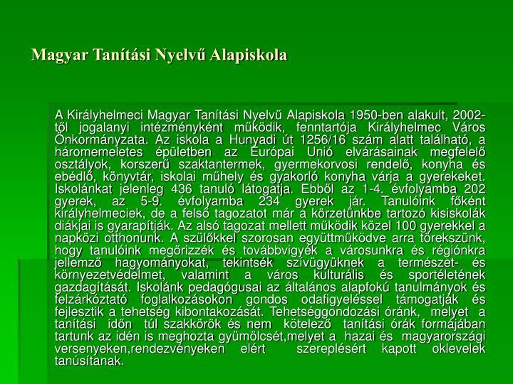 Magyar Tanítási Nyelvű Alapiskola