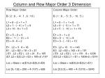 column and row major order 3 dimension2