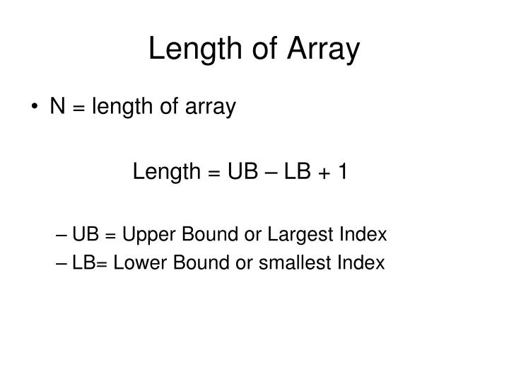 Length of Array