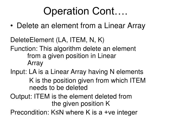 Operation Cont….