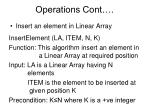 operations cont