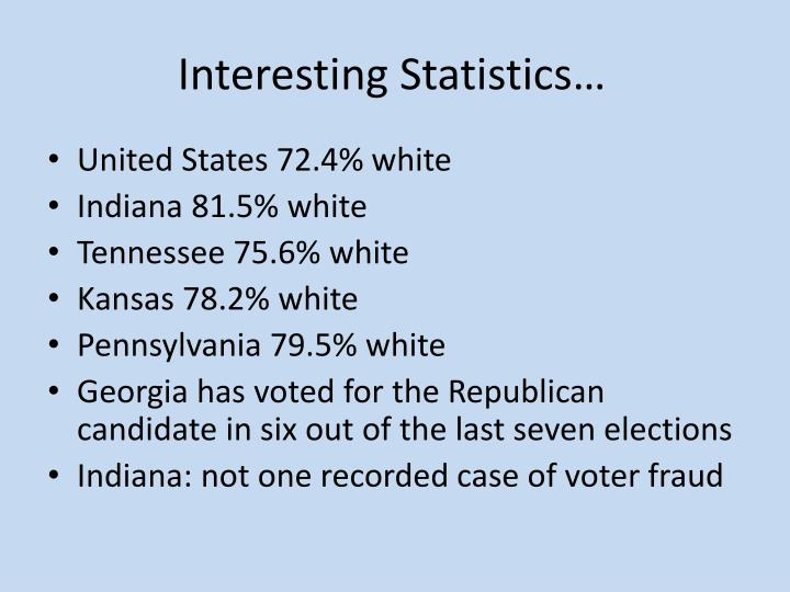 Interesting Statistics…