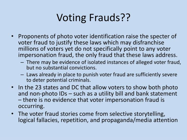 Voting Frauds??