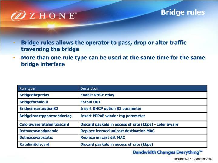 Bridge rules