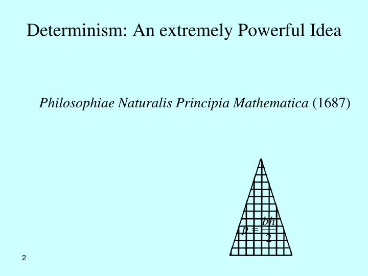 Determinism: An extremely Powerful Idea