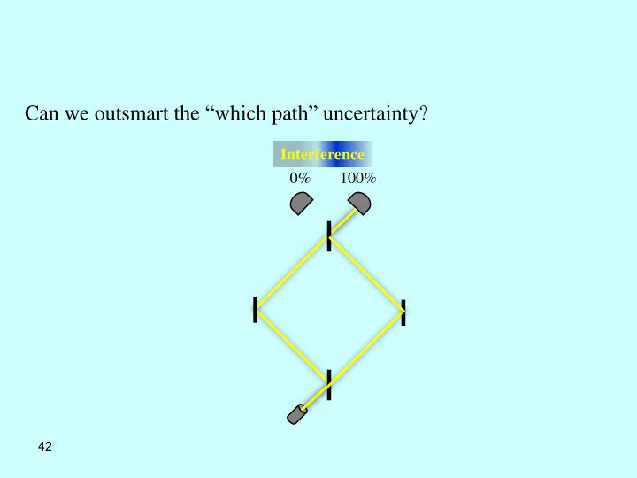"Can we outsmart the ""which path"" uncertainty?"