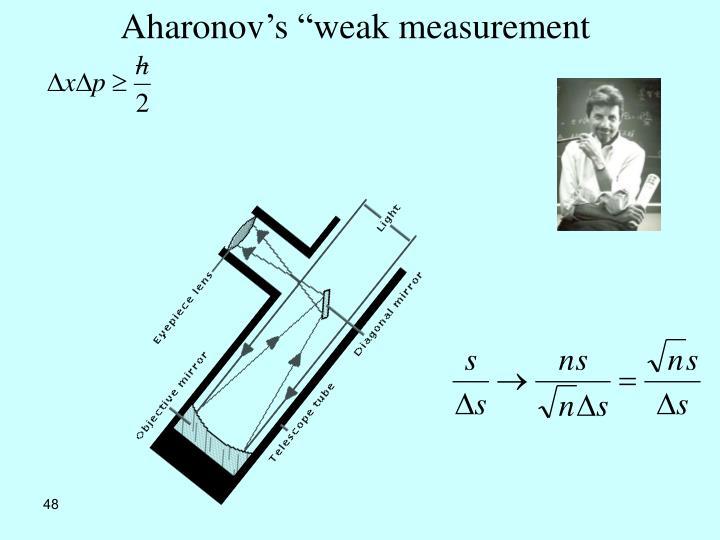 """Aharonov's """"weak measurement"""