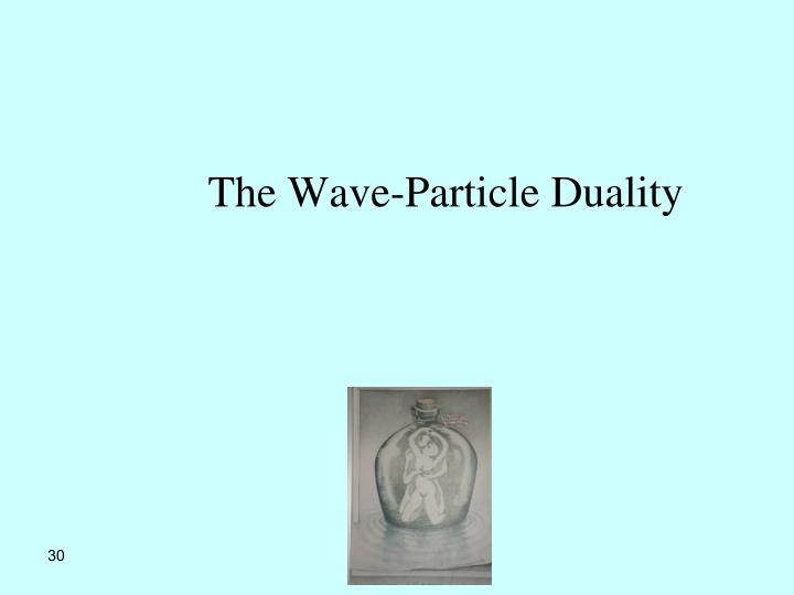 The Wave-Particle Duality