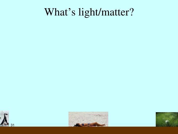What's light/matter?