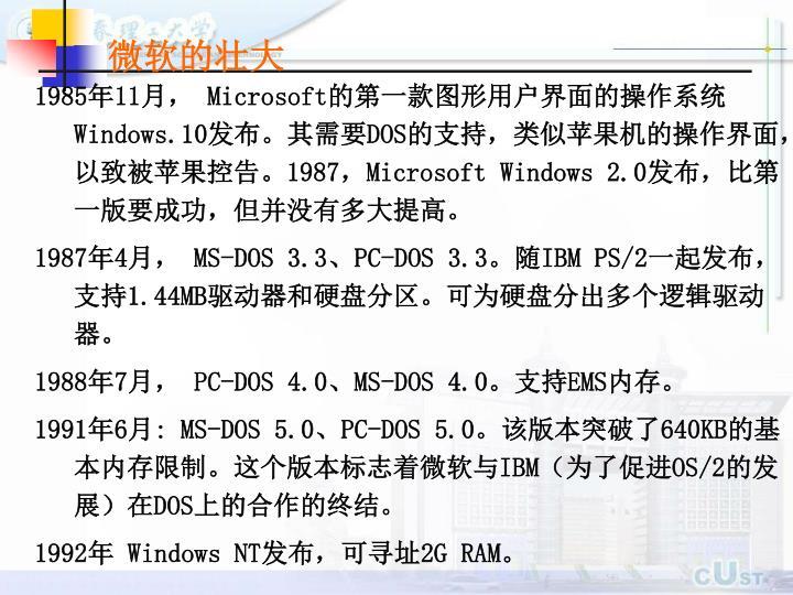 微软的壮大