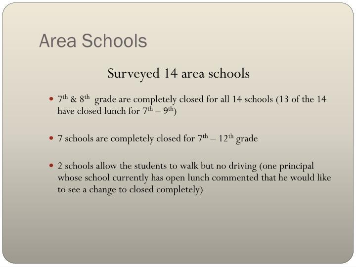 Area Schools