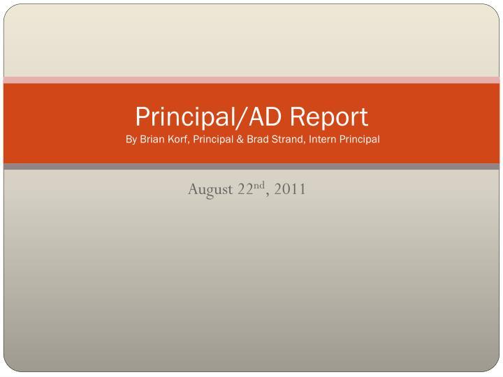 Principal/AD Report