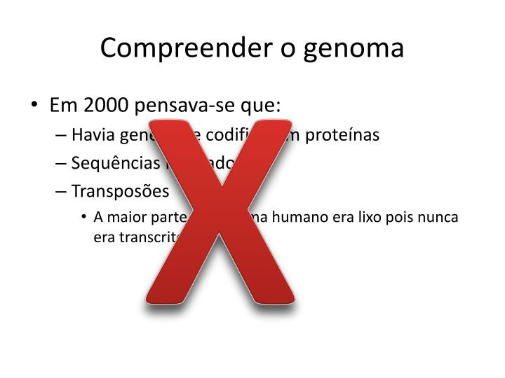 Compreender o genoma