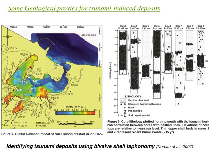 Some Geological proxies for tsunami-induced deposits