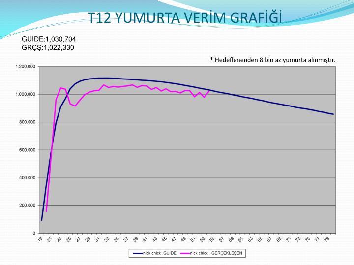 T12 YUMURTA VERİM GRAFİĞİ