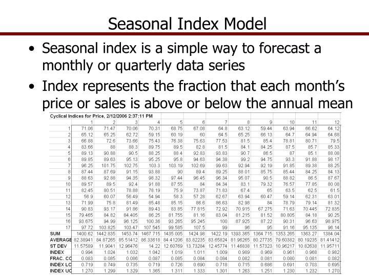 Seasonal Index Model
