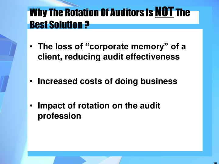 essay on auditors indenpendence The effects of audit committee activity and independence on corporate fraud,  26 (11)  pe dimitropoulos, d asteriouthe effect of board composition on the.