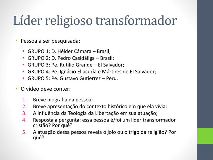 Líder religioso transformador