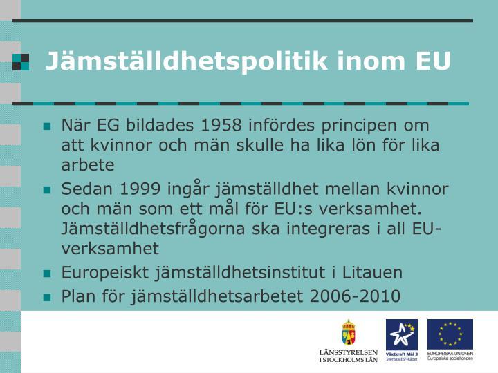 Jämställdhetspolitik inom EU