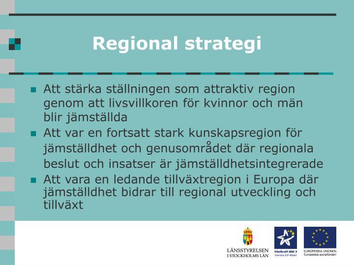Regional strategi