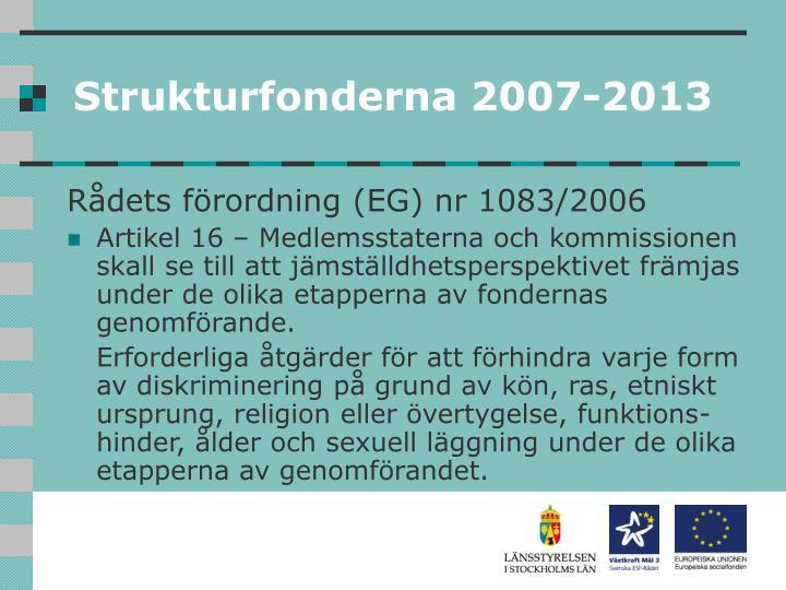 Strukturfonderna 2007-2013