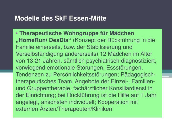 Modelle des SkF Essen-Mitte