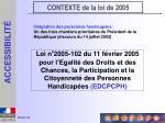 contexte de la loi de 2005
